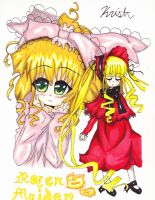 Shinku and Hinaichigo- Rozen Maiden by ShanaSonozaki