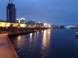 Night Minsk by nikitabirds