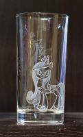 Princess Cadence /Queen Chrysalis water glass by rtry