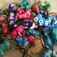 Tentacle Phone Charms by KTOctopus