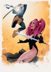 Dimples vs Deathstroke by devduck01