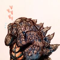 Blushzilla. by legendfromthedeep