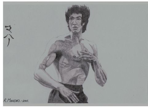 BRUCE LEE by StonedSmeagol