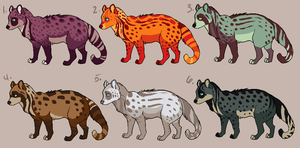 $5 civets by pandapoots