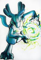 Lucario used Aura Sphere by Skyrays