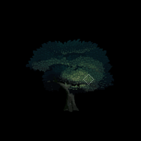 Dynamically lit pixelart test: tree by Imrooniel