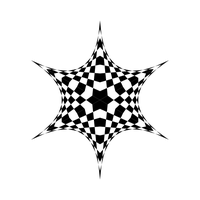 Splayed Checker Star by playful-geometer