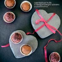 chocolate truffles with candied cherries by Pokakulka