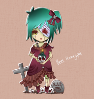 Adoptable Zombie -Girl - CLOSED by BeesHoneypot