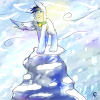 Snowy mountain by CleverConflict