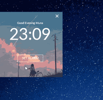 Mini Alarm 1.0 [ Free Rainmeter Skin ] PREVIEW by MunaNazzal