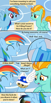 Rainbow Dash's Secret to Exercising Properly by Beavernator
