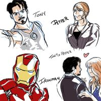 Ironman Sketches by ellensama
