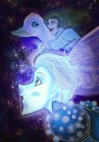 The Spectral Boy and Goose Girl by EvieSketchy