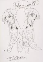 Twin Chibi Brothers by Gothie666
