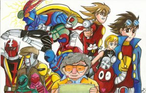 Shotarou Ishinomori Tribute by ZIX89