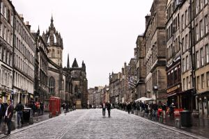 Royal Mile at a rainy day by UdoChristmann