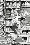 In my library - lineart by CathM