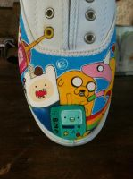 New and Improved Adventure Time Shoes WIP by PirateTabby