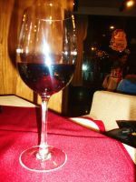 A glass of wine 1 by Laura-in-china