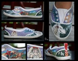 Princess Mononoke Canvas Shoe by Jamguri