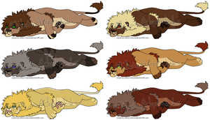 Male Lion Adoptables CLOSED by MikasAdoptables