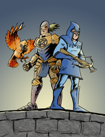 Booster Gold and Blue Beetle by MarkHartman