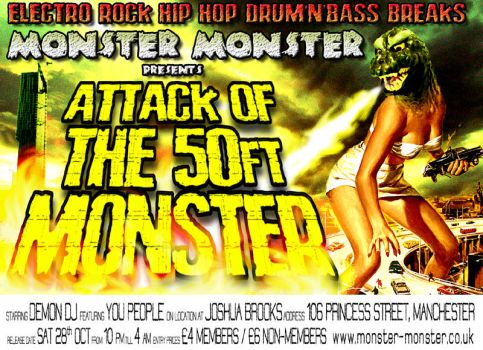 Attack of the 50ft Monster by neon-shaolin