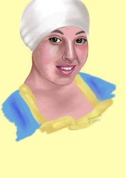 Drawing of friends: Naoual by 4ureyesonly