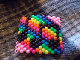 other side of the rainbow music cuff by DINOCATCREATIONS