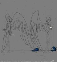 The Fallen: Cameron and Daniel (Work In Progress) by Evergreen-Symphony