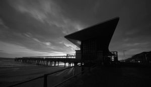 Boscombe Pier BAndW by 06footnerc