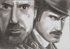 Holmes and Watson by The-Shadow-artist