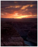 Horseshoe Bend Sunset HDR 2 by Karl-B
