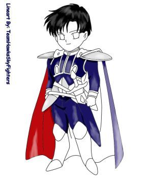 Chibi Prince Endymion Coloring Process 2 by animelover101411