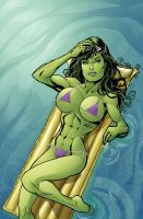 Commission - She-Hulk by ChrisShields