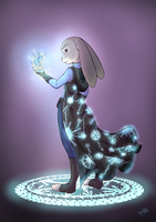 Commission | Zootopia-Judy | Ice Mage by GossArt1323