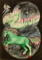 Aurora Pony And For Some Reason, A Fairy by Meerkatie