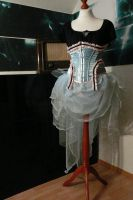 WIP Blue Bustle and Cake Underbust Corset by Eisfluegel