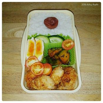 Chicken Bites Bento by ErisConstance