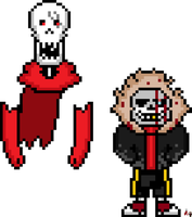HorrorDustFell Sans and Papyrus by flambeworm370