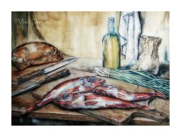 A kitchen still life by anyword