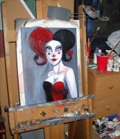 Clown face WIP by pinksnowdevil
