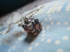 Portal - Companion Cube necklace by Lunatica-Reiko