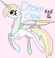 my new alicorn Dream cloud by kittyocat