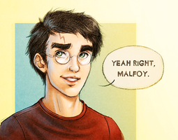Yeah Right, Malfoy. by trowicia