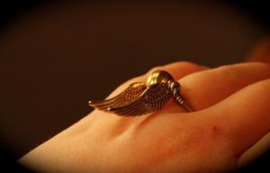BACK IN STOCK Golden Snitch Ring Wire-Wrap by kittykat01