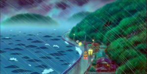 Stormy Weather - Ponyo Wallpaper by sirdaftodill