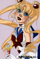 Sailor Moon by h0n3yd011