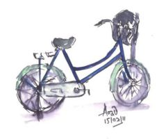blue bicycle by pnna